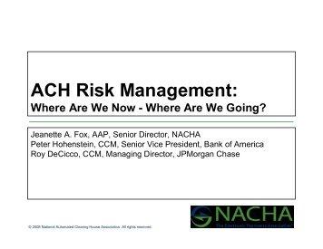 ACH Risk Management:
