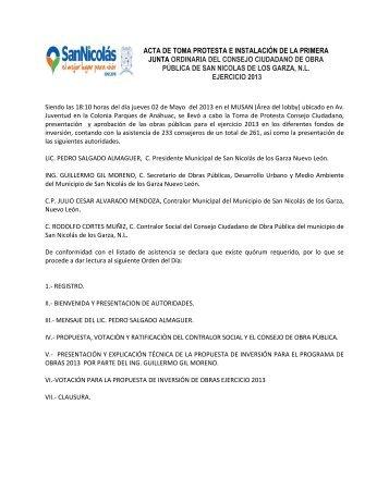 Acta 2 de Mayo