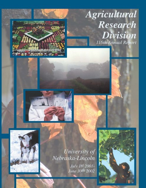 2002 ARD Annual Report - Agricultural Research Division - The ...