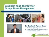 Laughter Yoga Therapy for Group Stress Management