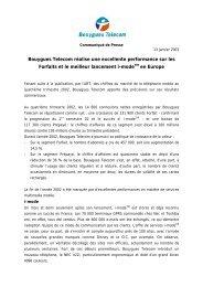 Bouygues Telecom réalise une excellente performance sur les ...