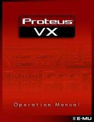 Proteus VX Operation Manual, English, version 2.0.1 - Creative ...