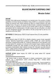 Bojové skupiny Európskej únie - Politické vedy