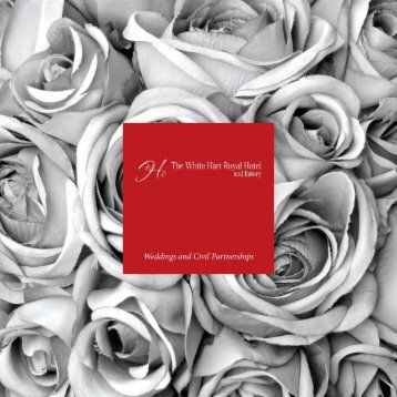 Wedding Brochure - The White Hart Royal Hotel