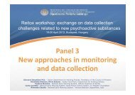 Panel 3 New approaches in monitoring and data collection