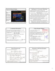 Challenges to Concurrent Modeling Continuum Description ∫ Finite ...