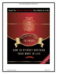 How To Attract Anything You Want In Life ... - Mompreneur Asia
