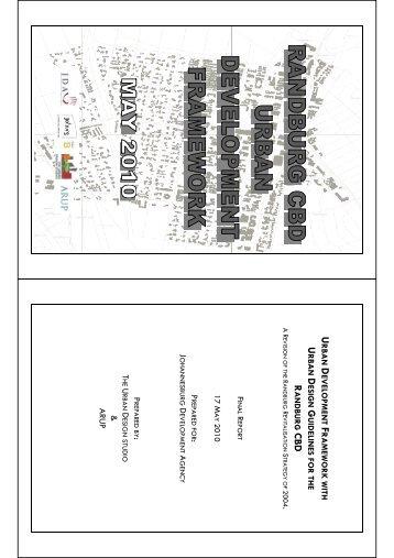 Urban Development Framework Report - Johannesburg ...