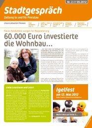 60.000 Euro investierte die Wohnbau... - Wohnbau Prenzlau