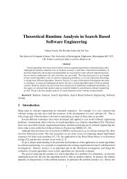 Theoretical Runtime Analysis in Search Based Software Engineering