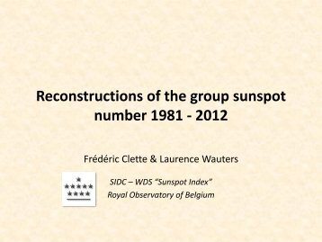 Reconstructions of the group sunspot number 1981 - 2012