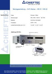 Montageanleitung – – Hi-Fi-Series – HE-01 / HE-02 - Chieftec