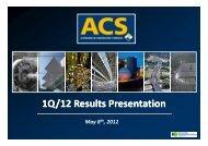 1Q/12 Results Presentation - Grupo ACS
