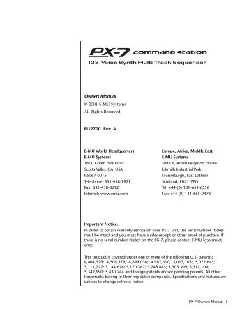 PX-7 Operation Manual (revison A) - nocookie.net