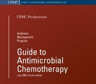 Guide to Antimicrobial Chemotherapy - University of Pittsburgh ...