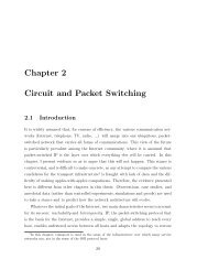 Chapter 2 Circuit and Packet Switching - High Performance ...