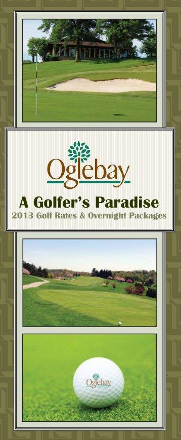 2013 Golf Packages - Oglebay Park Resort