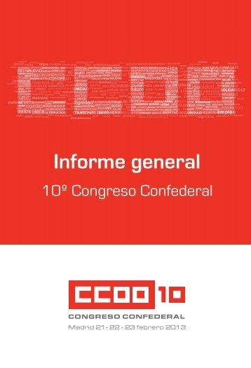 Informe General al 10º Congreso de CCOO
