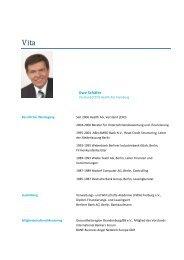 Vita Uwe Schäfer - Health AG