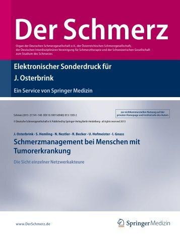 Der Schmerz, 2013. 27(2) - Aktionsbündnis Schmerzfreie Stadt ...