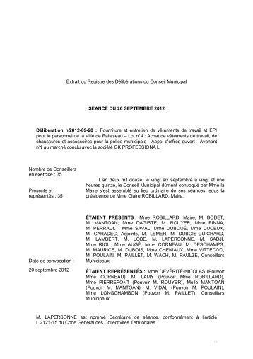 20 - Fourniture et entretien de vêtements GK ... - Ville de Palaiseau