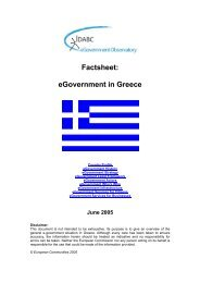 eGovernment in Greece - June 2005