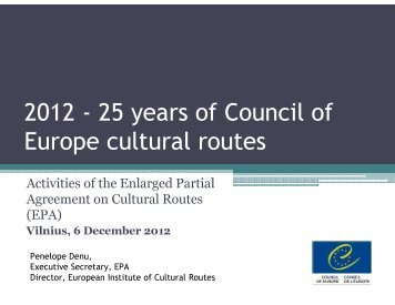 2012 - 25 years of Council of Europe cultural routes
