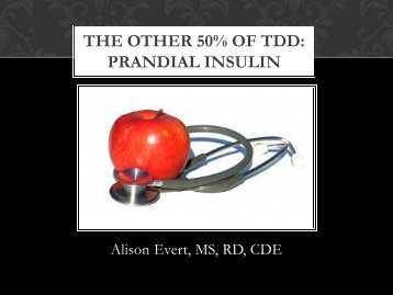 """""""Other"""" 50% of the Total Daily Dose-Prandial Insulin - Washington ..."""