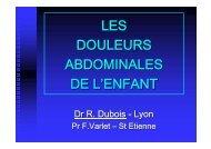 LES DOULEURS ABDOMINALES DE L'ENFANT - SOFOP