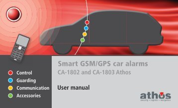 Smart GSM/GPS car alarms - Jablotron