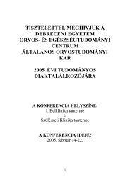 Programfüzet (PDF) - DE OEC Tudományos Diákköri Tanács