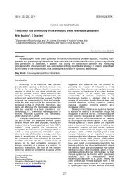 VISION AND PERSPECTIVES - Invertebrate Survival Journal