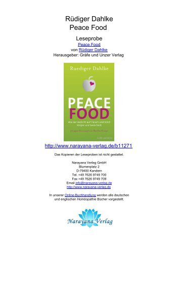 Rüdiger Dahlke Peace Food