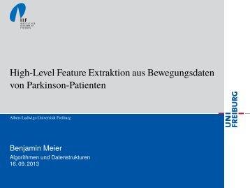 High-Level Feature Extraktion aus Bewegungsdaten von Parkinson ...