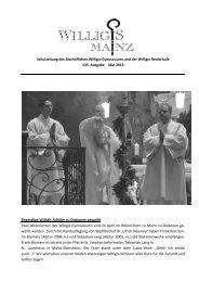 Schulzeitung Mai 2013 - Bischöfliches Willigis Mainz