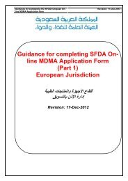 Guidance for completing SFDA On- line MDMA Application Form ...