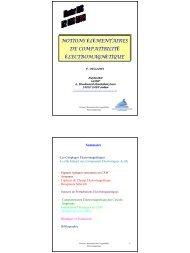 1. Notions élémentaires de Compatibilité Electromagnétique