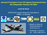 Aerosol Formation From Oil Vapors Downwind from the Deepwater ...