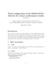 Final configuration of the ELISA(NGO) detector for ... - lisa-light wiki