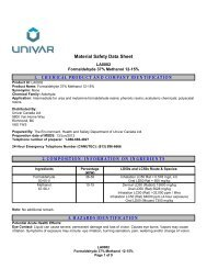 Material Safety Data Sheet 1. CHEMICAL PRODUCT AND ...