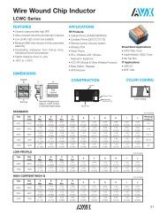 Wire Wound Chip Inductor LCWC Series - AVX
