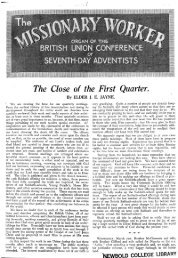 The Close of the First Quarter. ELDER - Adventisthistory.org.uk
