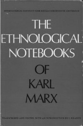 the ethnological notebooks of karl marx - Marxists Internet Archive