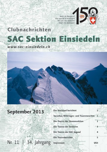 September 2013 - SAC Einsiedeln