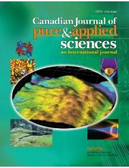 Jan-08 - Canadian Journal of Pure and Applied Sciences