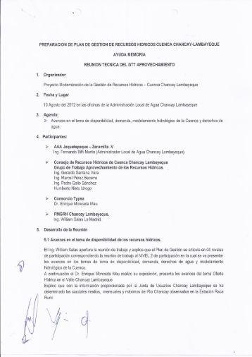1. preparación de plan de gestion de recursos hidricos cuenca ...