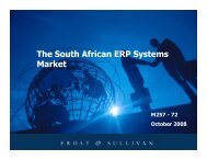 The South African ERP Systems Market - Growth Consulting - Frost ...