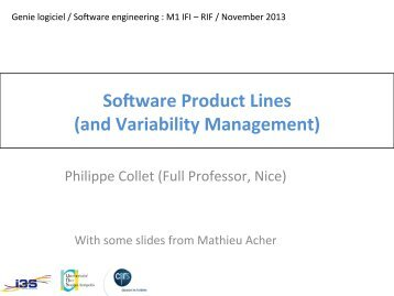 Software Product Lines (and Variability Management)