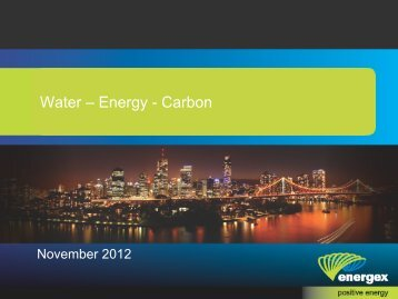 A perspective from the energy sector - Urban Water Security ...