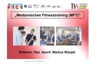 """""""Medizinisches Fitnesstraining (MFT)"""" - GETUP-Kongress"""